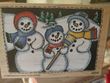Purchase protection snowman family, blue broom, Co motion, big, 122,rubber,stamp