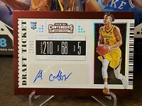 2019-20 Panini Contenders Draft Picks College Ticket 17/99 Amir Coffey RC Auto