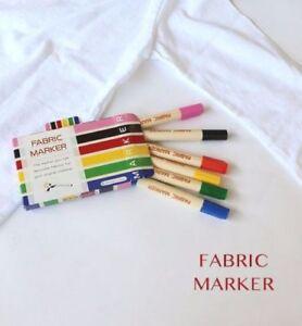 DIY Fabric Pens Art Craft Permanent Textile Fabric Marker Set 6 made in Japan