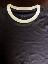 Nike Women's Dri-Fit UPF Golf T-Shirt Gridiron/White AV3659-015 Medium