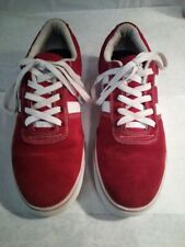 HUF Shoes Red Suede / Gum sole Size 10.5 Mens Sneakers HUF Worldwide Skate Shoes