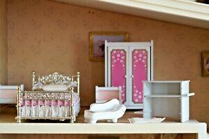 Chambre rose LUNDBY, années 80, maison poupées