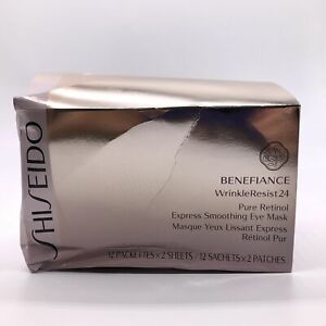Shiseido Pure Retinol Express Smoothing Eye Mask 12x2 sheets - NEW Box Damaged