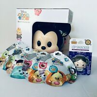 Disney Tsum Tsum Stack N Display Micky Carry Case +4 Mystery Pack +1 Lip Balm