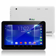 iRULU 10.1 inch Tablet PC 8GB Android 6.0 Dual Cam WIFI Front Black + White