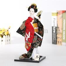 "12"" Oriental Japanese Brocade Kimono Kabuki  Doll Geisha Figure Figurine Statue"