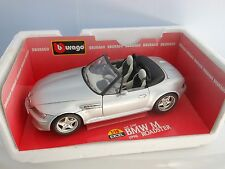 Burago BMW M Roadster (Z3) 1:18 scale diecast model Boxed Silver  Code 3369