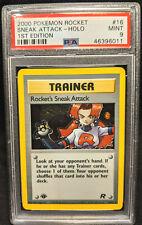 2000 Pokemon Team Rocket 1st Edition #16 Rocket's Sneak Attack Holo PSA 9 Mint