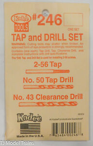 Kadee  #246 (2-56 Tap & Drill Set -- Includes Tap and #50 & #43 Drills)