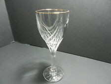 "Lenox Crystal Debut Gold Wine Stem Clear Gold Trim 7 3/8"" T TM ca 1994-2015"