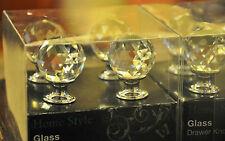 8 VINTAGE STYLE CRYSTAL GLASS DRAWER/CABINET DOOR KNOBS HANDLES