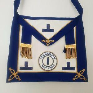 Vintage Masonic Craft provincial apron Yorkshire West Riding