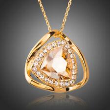 18K Gold GP Made With SWAROVSKI Element Crystal Necklace 209