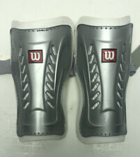 """Set Of Wilson Youth Peewee Shin Guards For Soccer Gray And White 7"""""""