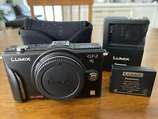 Lumix GF2 Camera Body, Black, Excellent Condition
