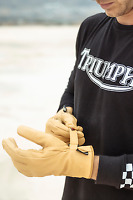 GENUINE TRIUMPH DEREHAM GORETEX  MOTORCYCLE WATERPROOF GLOVE LARGE MGVS18106