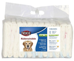 Trixie Male Dog Nappies Diapers Nappy Large - Extra Large 60-80cm