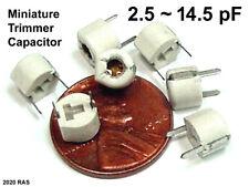 (2) 2.5 ~ 14.5 pF Miniature Trimmer Capacitors