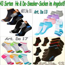 1-24P Herren & Damen SneakerSocken Sneaker Socken Sportsocken Füßlinge Quarter