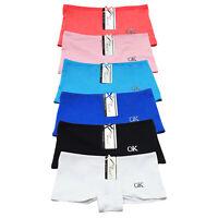 6 Pack Womens Cotton BoyShorts Briefs High Waist Seamless Panties Underwear