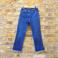 Burberry Girls Dark Blue Nova Check Hemed Pants Jeans 10 years old W 24 L 24