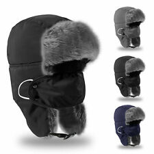Men Winter Aviator Bomber Trooper Trapper Hat  Snow Ski Motorcycle  Ear Flap Cap