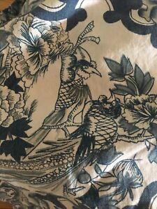 Queen  Ralph Lauren TAMARIND - Porcelain Bird - Blue Bedskirt