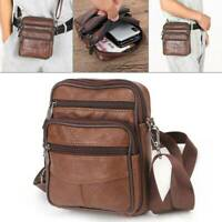 Boys Men's Small Genuine Leather Messenger Cross Body Shoulder Side New Bag