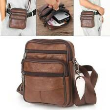 Boys Men's Small Genuine Leather Messenger Cross Body Shoulder Side Bag