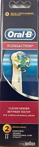 ORAL B BRAUN FLOSSACTION ELECTRIC TOOTHBRUSH HEADS