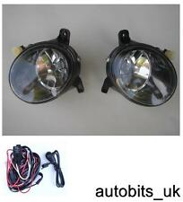 CLEAR LENS FOG LIGHTS LAMPS L + R FOR AUDI A4 B8 A4L 09-12 A1 Q5 + WIRING KIT