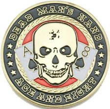 DEAD MAN'S HAND ACE & EIGHT POKER CARD PROTECTOR GUARD GOLD PLATED COIN TOKEN