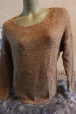 MADE in ITALY morbidose a maglia maglione Knit S M L MAGLIONE TORTORA + Loopschal blogger