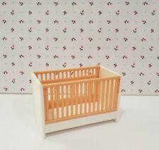 Vintage Tomy Dollhouse Furniture ~ Nursery Baby Crib ~ Very Rare