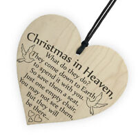 Christmas in Heaven Memory Poem Sign / Plaque Memorial Decoration Love Ones hi