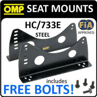 HC/733E OMP RACING BUCKET SEAT SIDE MOUNTS STEEL BRACKETS to fix to SUBFRAMES