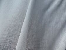 """Semi Sheer Drapery Fabric Warm White Textured Crepe Solid Colored 124"""" WIDE 3.5Y"""