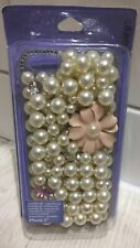 CLAIRE'S IPHONE 5 - MOBILE PHONE CASE - BACK COVER - JEWELLED PEARLS BRAND NEW
