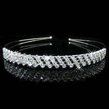 Diamant Nuptial bandeau strass tête pièces BANDE TIARE cristal argent mariage