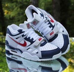 Nike Air Trainer 3 Retro USA Bo Jackson Men's Size 11.5 White Blue CN0923-400