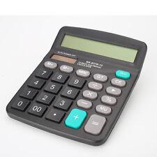 Portable Handheld Office 12-Digits Desktop Calculator Dual Power Solar & Battery