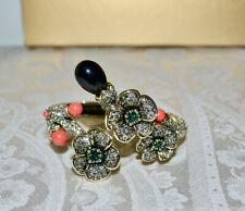 "NIB $250 Heidi Daus ""Blossom Du Jour"" Crystal Cherry Blossom Cuff Bracelet S/M"