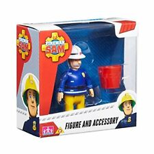 FIREMAN SAM SINGLE FIGURE + ACCESSORY SET - OFFICER STEELE & BUCKET -  NEW!