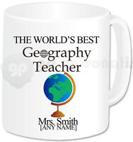 Personalised Gift Thank You Best Geography Teacher Mug Cup Birthday Christmas
