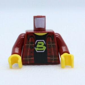 TORSO - Blacktron Fan 70813 Plaid Flannel MOVIE LEGO Minifigure Part