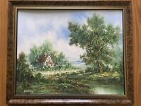 Large Original Oil Painting On Board Framed Signed By ENDERBY
