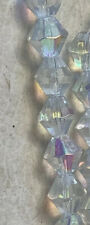 10mm Clear AB Bicone Crystal Beads 200 Beads Total On 10 Strands