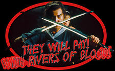"80's Samurai Cult Classic Shogun Assassin ""Rivers of Blood"" custom tee Any Size"