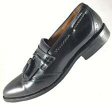 ALLEN EDMONDS Mens Shoes Size 7.5 D Bradenton Black Kilt Tassels Medallion Toe