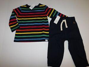 NWT Gap Baby Boy's 2Pc Stripe T-Shirt/Light Weight Joggers 12-18M NEW Free Ship